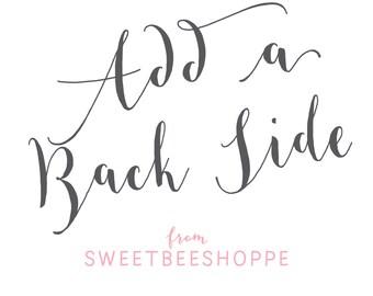 Back Side Design from Sweet Bee Shoppe