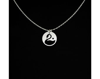 Swan Necklace - Swan Jewelry - Swan Gift