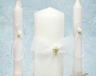 Calla Lily Bouquet Wedding Unity Candle Set - 35725C