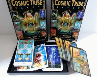 Cosmic Tribe Tarot Stevee Postman Cards Eric Ganther Book Full Deck Cards Set, Erotic Mystical Provocative Energy colorful devination