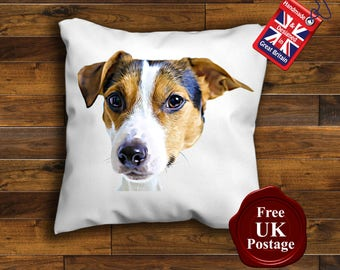 Jack Russell Terrier Cushion Cover, Jack Russell Cushion, Handmade Cushion Cover,