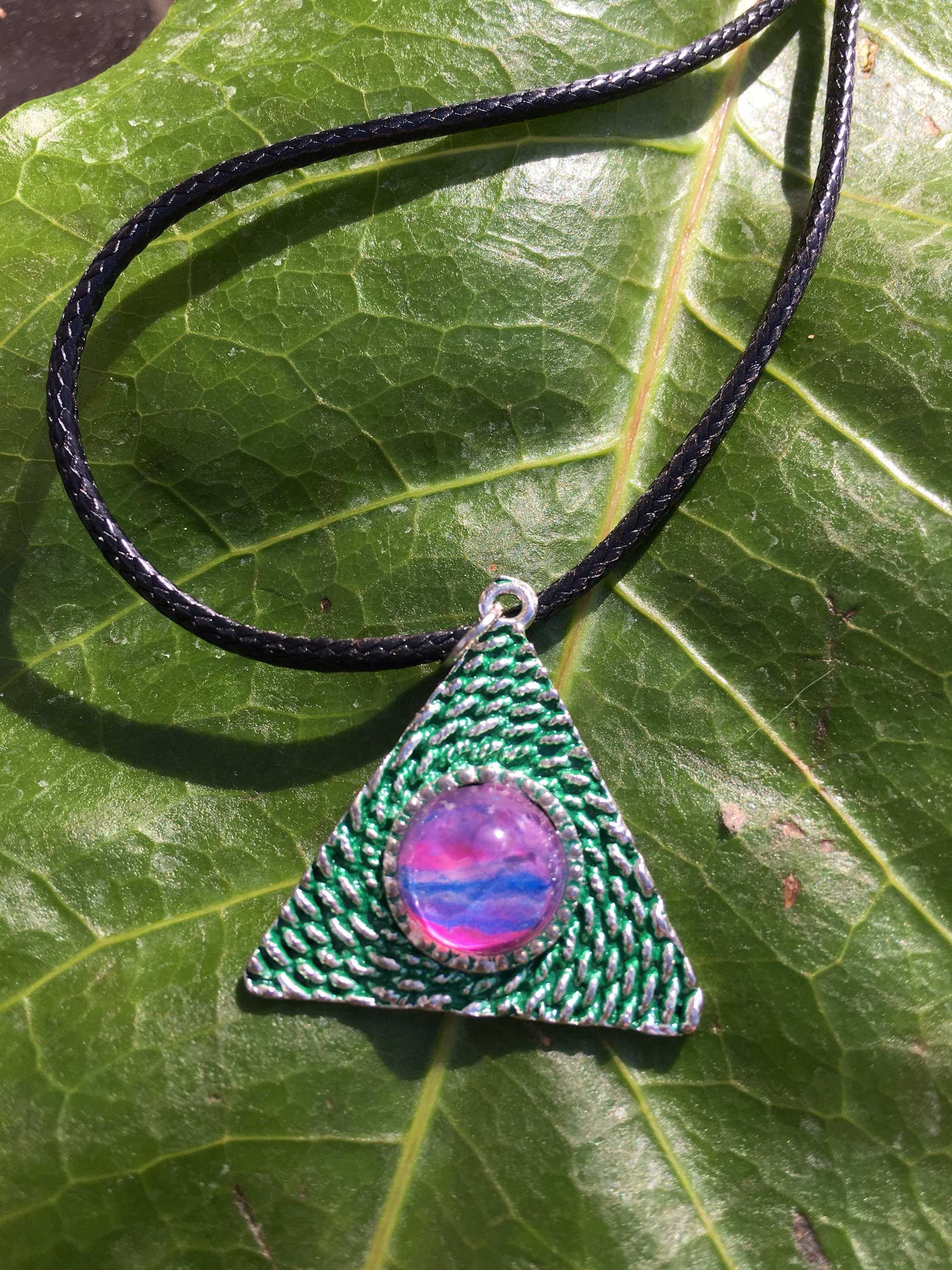 festival faerie il jtbk luck fullxfull colors mystical jewelry boho necklace fantasy gift or listing celtic masons pendant triangle her preppy for wiccan