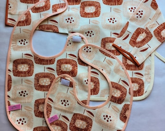 Set of 3 organic bibs - Gift set baby