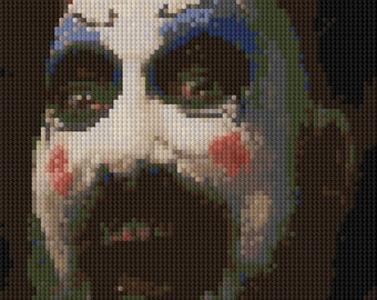 Portrait of Captain Spaulding counted Cross Stitch Pattern detailed digital download