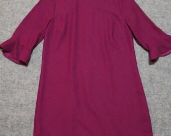 25% OFF fuchsia dress with circular flounce sleeves