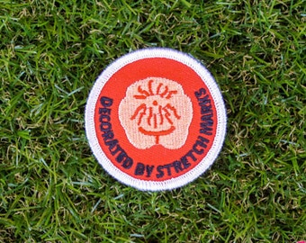 Decorated By Stretchmarks - Girth Guides patch for fat activists