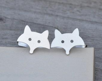 Fox Cufflinks In Sterling Silver, Handmade In The UK