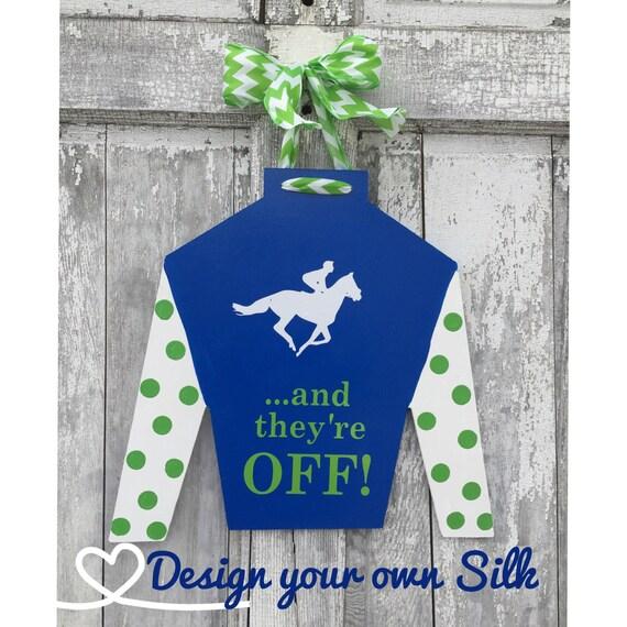 CUSTOM, Kentucky Derby jockey silk, door hanger, design your own jockey silk door hanger, jockey silk door hanger, KY Derby decoration, silk