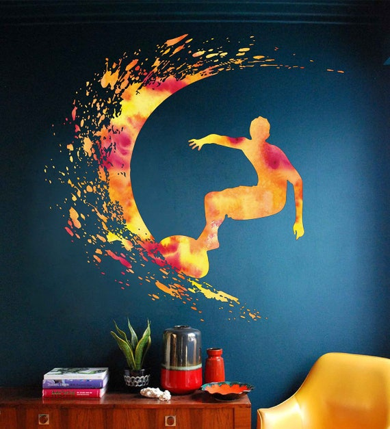 Surfing Wall Decal by ArtWallStickers