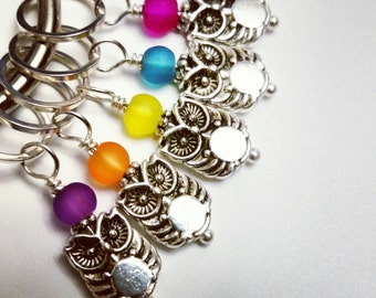 Little Owl Stitch Markers...10 and under