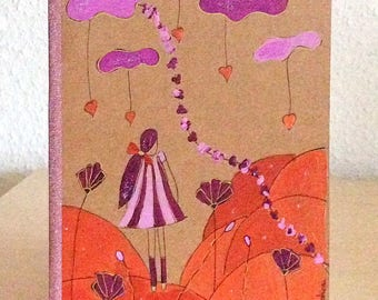 Notebook - sketchbook hand painted