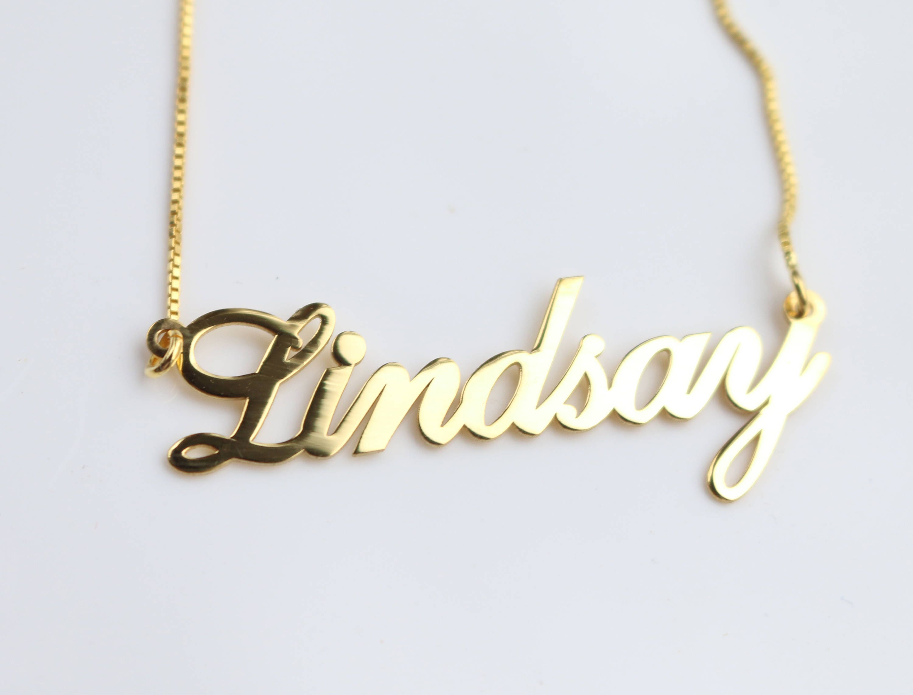 bar necklace handmade name cursive necklaces erin jewelry