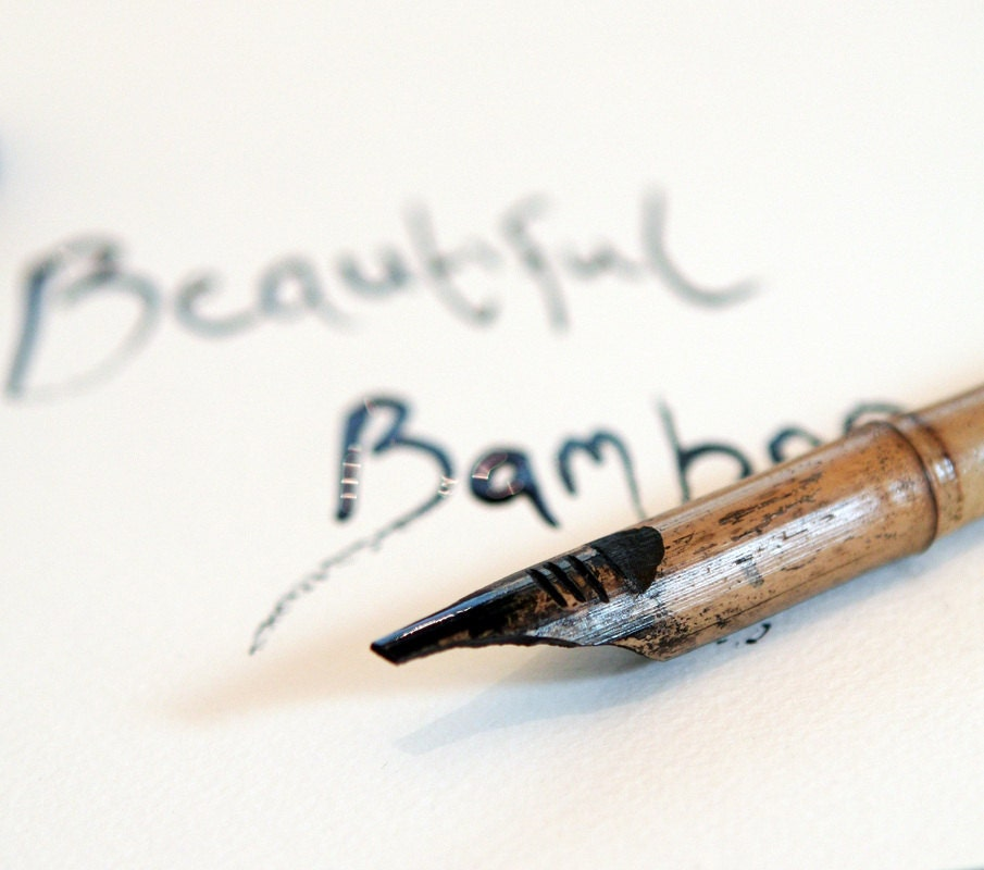 New hand carved bamboo ink dip pen for drawing calligraphy Drawing with calligraphy pens