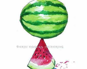 Watermelon Kitchen Art Print 11x14