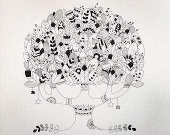 Original tree illustration