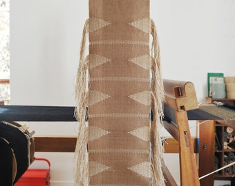 Handwoven wall hanging/ Cotton & Linen/ Weaving/ Fiber art