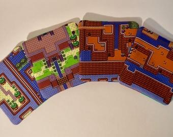 It's Dangerous to go Alone - Set of 4 Legend of Zelda Fabric Drink Coasters