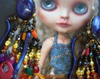 Very Vintage Unusual Stunning Bohemian Earrings Jewelry
