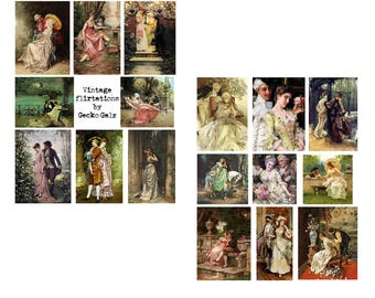 Vintage Flirtations Collage Set