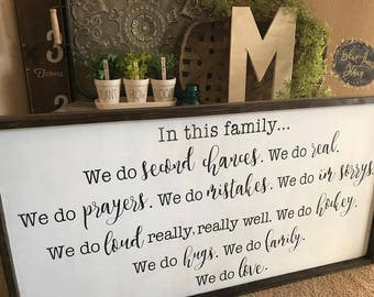 wood sign - romantic quote - inspirational quote - farmhouse
