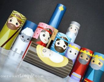 Toilet Paper Roll Nativity