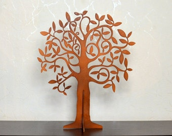 Wishing tree wooden brown, guest book, Bridal showers, baptism decor, wedding, birthday, thanks tags