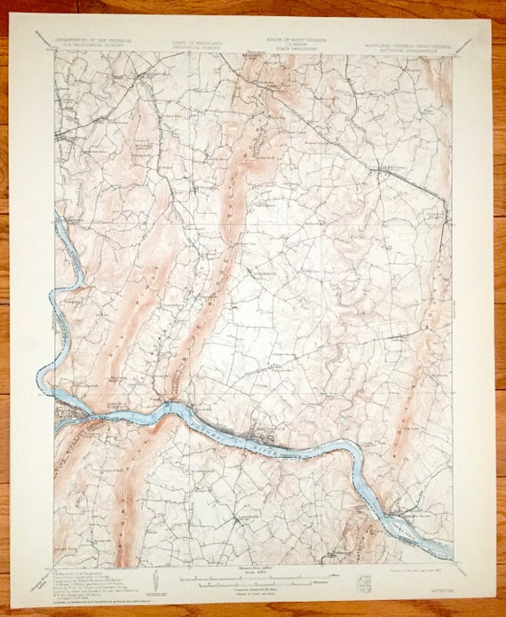 Antique Antietam Battlefield Maryland 1910 US Geological