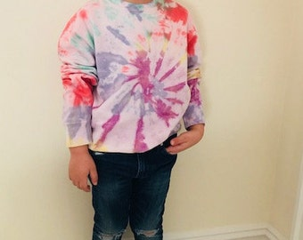 Rainbow Tie Dye Print Toddler Sweatshirt