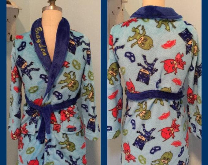 Boys 4-8 PJ Mask Fleece Robe - Personalized Monogrammed
