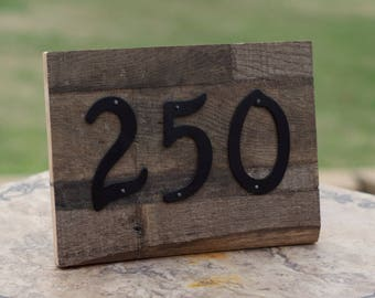 Reclaimed Wood House Number Plate