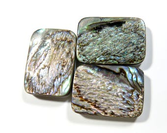 40% OFF, 3 Piece Amazing Quality Natural Abalone Shell,18X25MM Size, Rectangle Shape,AAA++ High Quality Abalone Shell,For Used Jewelry,Ag259