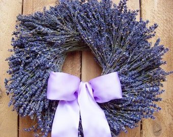 Spring Wreath-Lavender Wreath-Spring Door Wreath-Front Door Wreath-Winter Wreath-Wedding Wreath-RUSTIC DRIED LAVENDER Floral Door Wreath