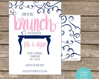 Post Wedding Brunch Invitation, Rise and Shine Invitation, Brunch Invite, Printable Post Wedding Brunch Invite -  Lovely Little Party