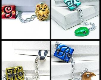 Hogwarts wizard house monogram bracelets harry potter hogwarts house jewelry hogwarts house monogram bracelet harry potter gift bracelet