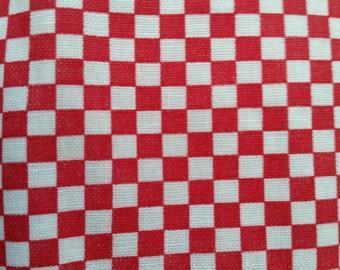 Red and White Tiny Checks Fat Quarter