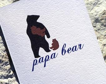 Fathers Day Card Papa Bear