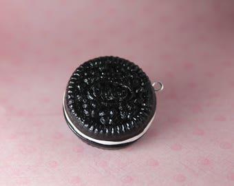 Mini Oreo Cookie Polymer Clay Charm