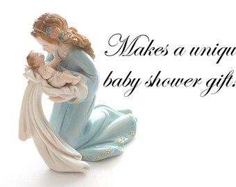 Vintage, Mother's Joy Figurine/Sculpture, Collectible, Baby Shower Gift Inspiration