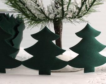 "Green Satin Pink Tree Ribbon Trim, 1.75"" wide, Christmas Tree Trim"