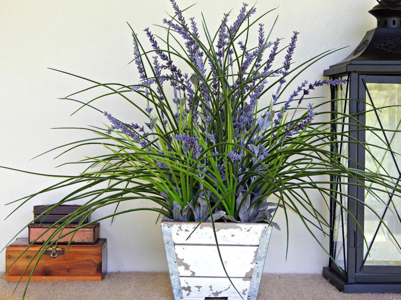 Lavender Arrangement Farmhouse Centerpiece Rustic Floral