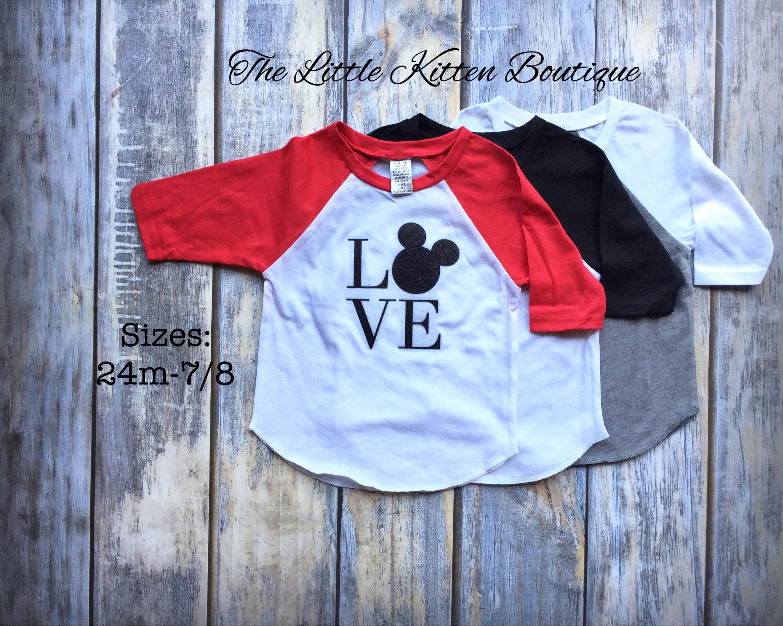 Disney Shirt Girls Raglan Shirt Girls Valentines Day Shirts