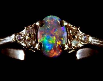 Black Opal Wedding Rings Best Of Rongxing Cute Green Fire Oval Opal ...
