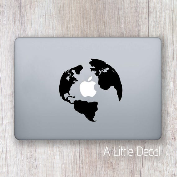 World map macbook decal macbook sticker earth laptop decal gumiabroncs Choice Image