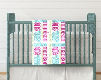 Personalized Baby Blanket - Monogram Baby Blanket - Baby Shower Gift - Baby Name Blanket - Monogrammed Blanket Baby - Custom Baby Blanket