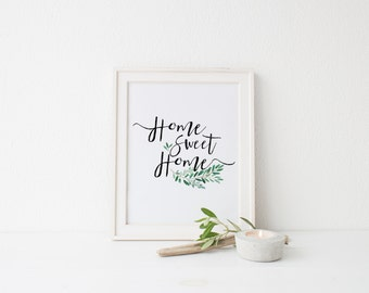 Home Sweet Home Print Printable Instant Download  Decor Frame Wall art