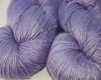 Studio June Yarn Cashmere Silk, Fingering Weight, Violet