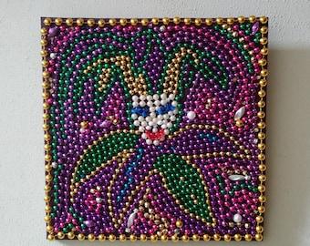 Mardi Gras Bead Art Court Jester