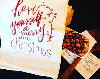 Festive Kitchen Towels • Silent Night • Have Yourself a Merry Little Christmas • Thrill of Hope a Weary World Rejoices