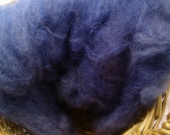 50g NORFOLK HORN wool dyed with LOGWOOD