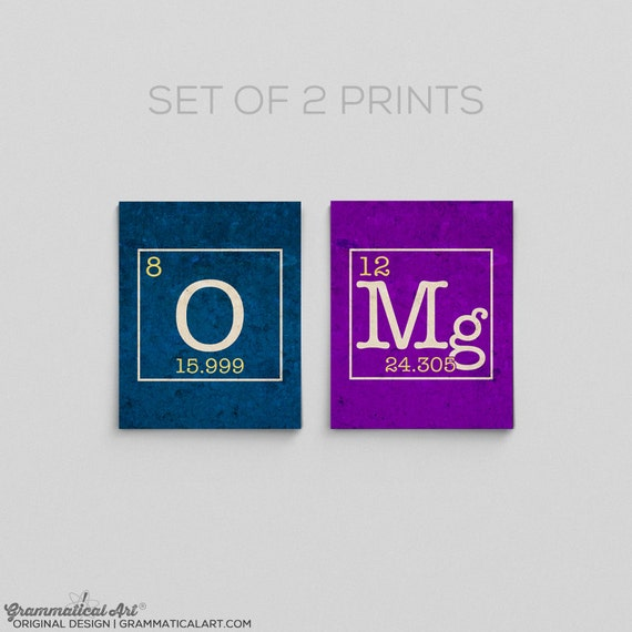 Omg science periodic table prints chemistry teacher gifts for like this item urtaz Images